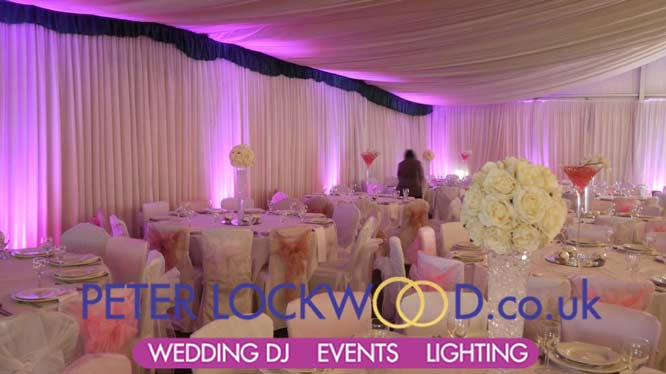 Davenport Green Hall Marquee Pink Mood Lighting