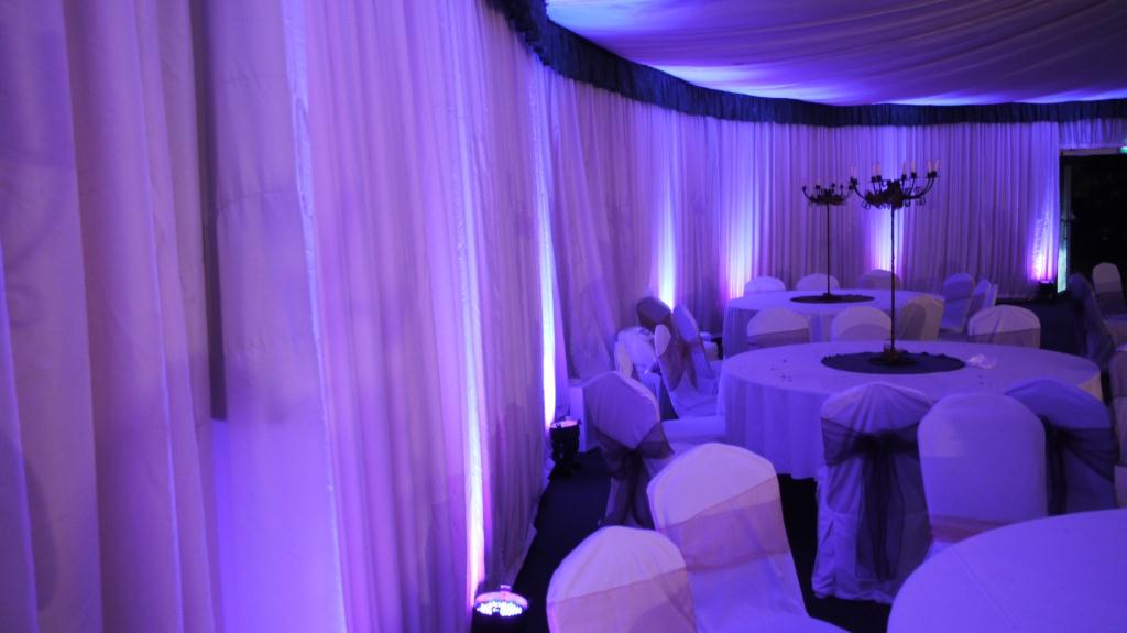 Home Davenport Green Hall Marquee Mood Lighting Purple