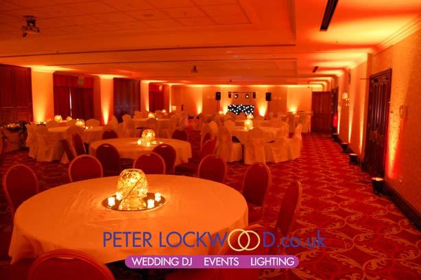Wedding Lighting In The Worsley Suite At Worsley Park Marriott