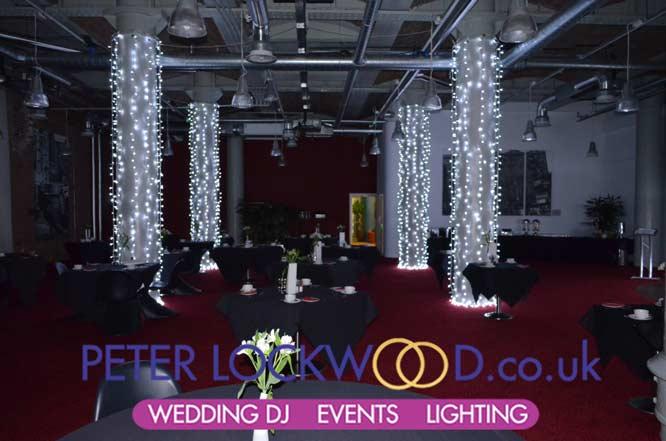Place Hotel Uplighting Pillar Lighting Fairylight Pillar