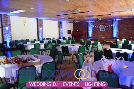 Antrobus Village Hall Wedding Lighting
