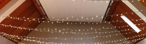 Village Hall Fairy Light Canopy