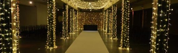 Fairy Light Wedding Aisle