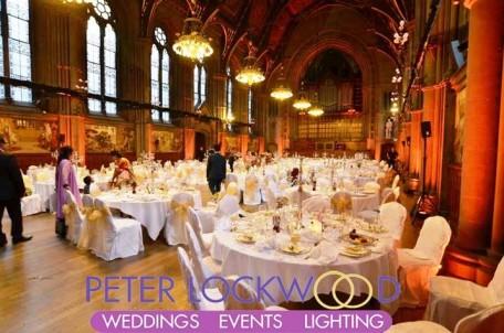 Manchester Town Hall Wedding Lighting
