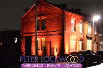 terrace house wedding lighting